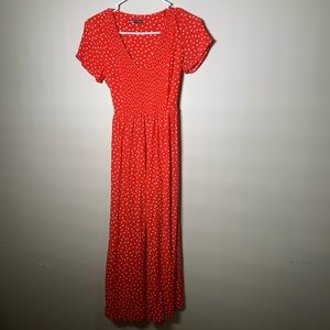 Zara Polka Dot Red Dress
